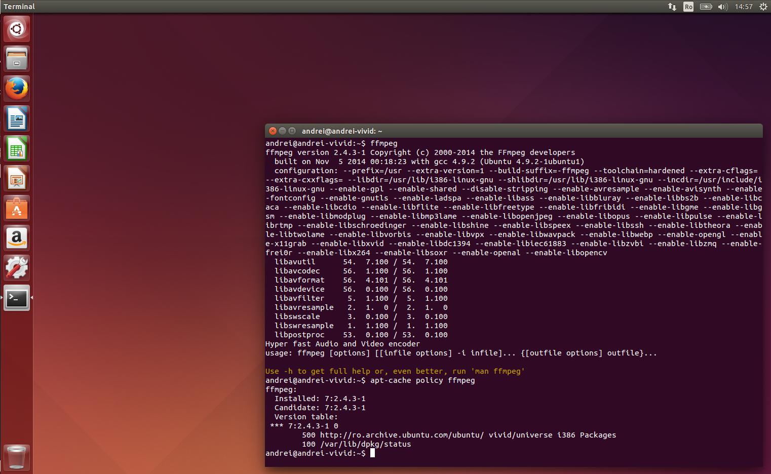 ubuntu 14.04 install ffmpeg apt