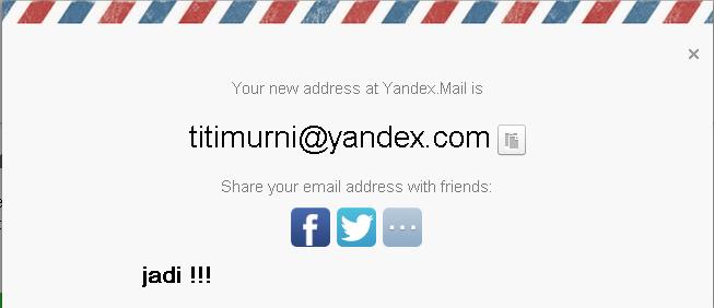 daftar email baru di yandex