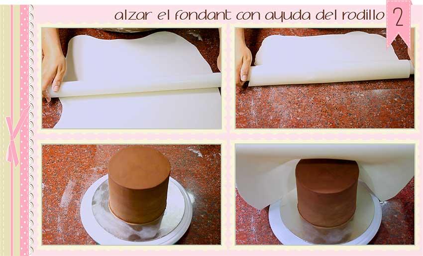 como cubrir una tarta con fondant