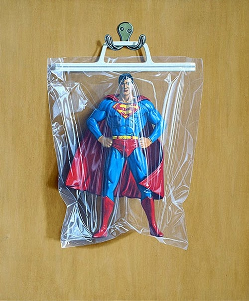 06-Clark-Kent-Superman-Simon-Monk-Bagged-Superheroes-in-Painting-www-designstack-co