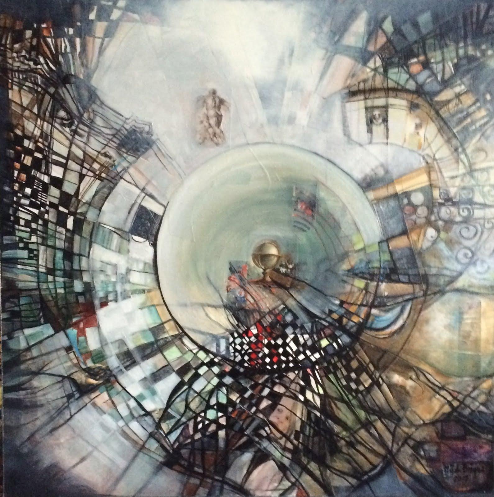 Vers un monde de lumière - 70 x 70 cm - 2015