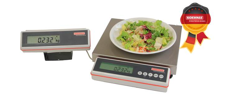 New gastro scale from soehnle professional international for Professional food scale