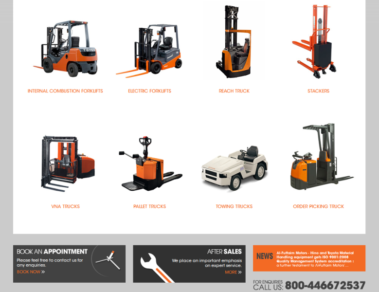 reputable distributor of Toyota material handling equipment