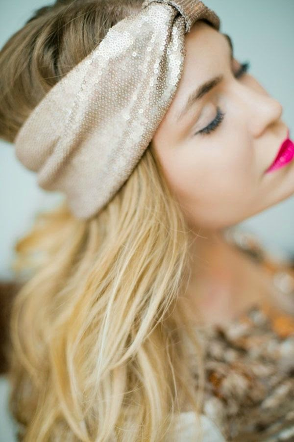Sequin Turban Headband