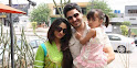 Ahsan Khan with his Wife and Daughter Family Pic
