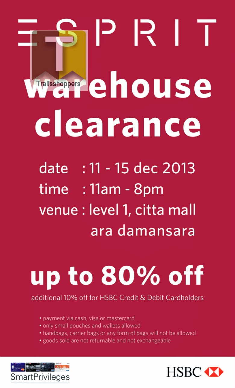 ESPRIT Warehouse Clearance 2013