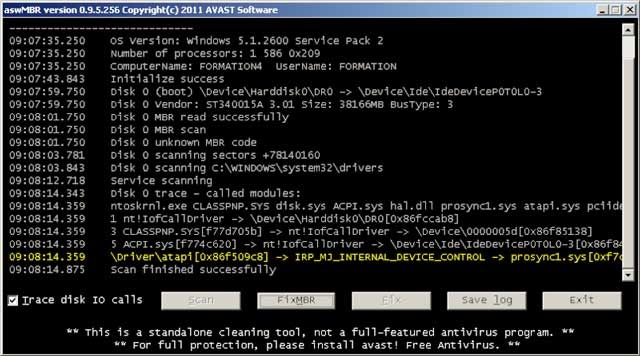 aswMBR anti rootkit free download