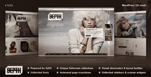 Depth Full Screen AJAX Portfolio WordPress Theme-bwtemplate blogs