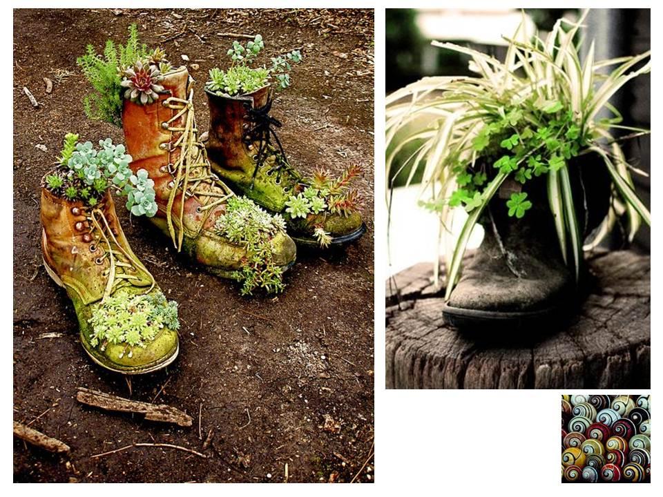 Paisajismo pueblos y jardines ideas creativas de objetos for Reciclaje para jardin