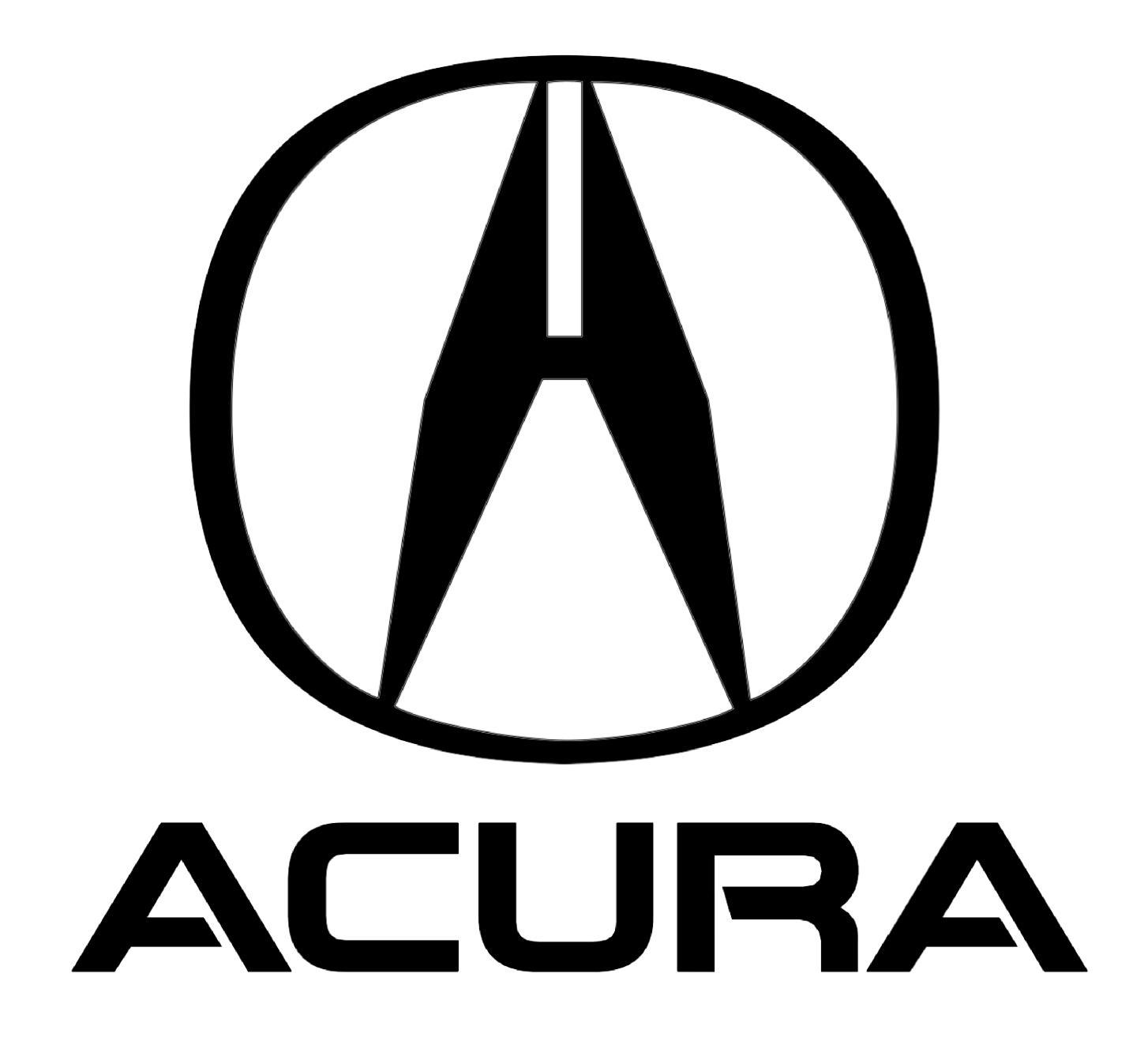 Acura Logo on Acura Integra Sedan