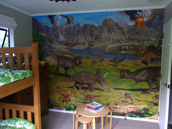 Cadlow vape world the story of mikko 39 s room for Dinosaur land wall mural