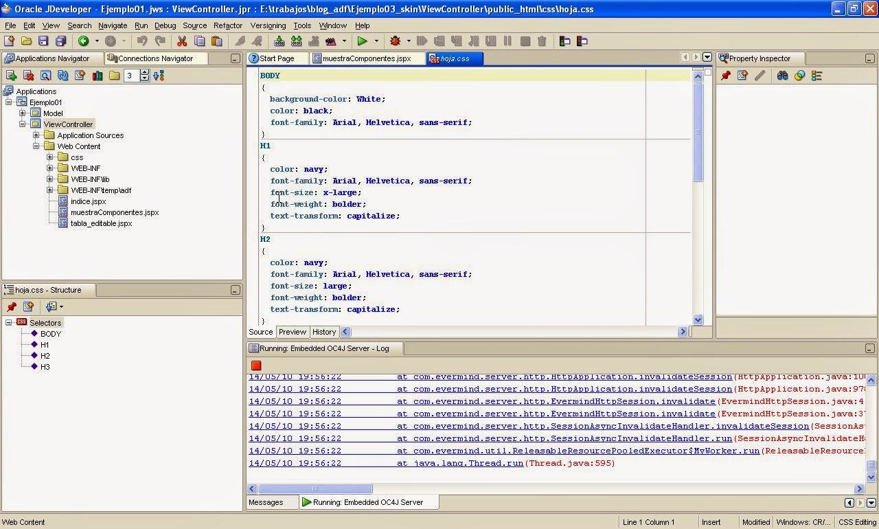 fichero CSS creado