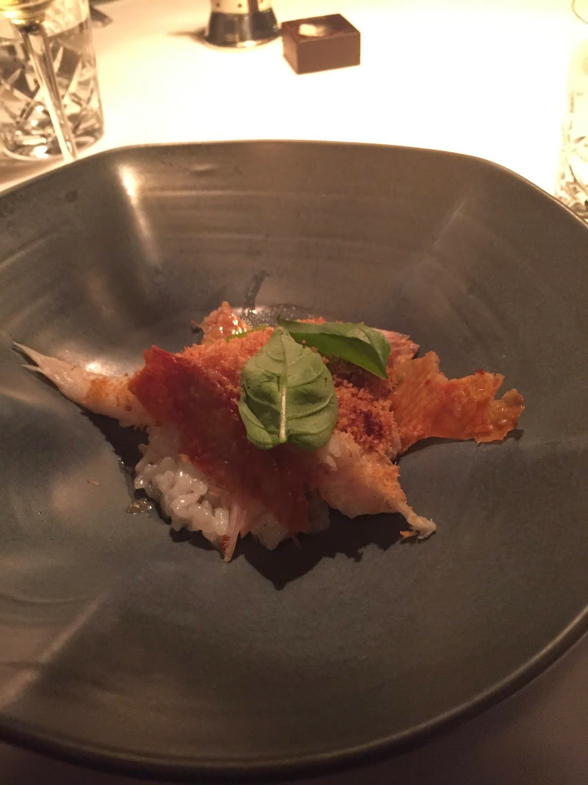 Cassie Cakes Rockpool Sydney John Dory with chicken skin