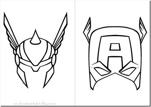 Blog MegaDiverso: Para descargar y pintar a Los Vengadores
