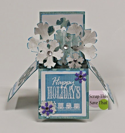 Scrapbooking, Papercrafting, Box Card, Blog Hop