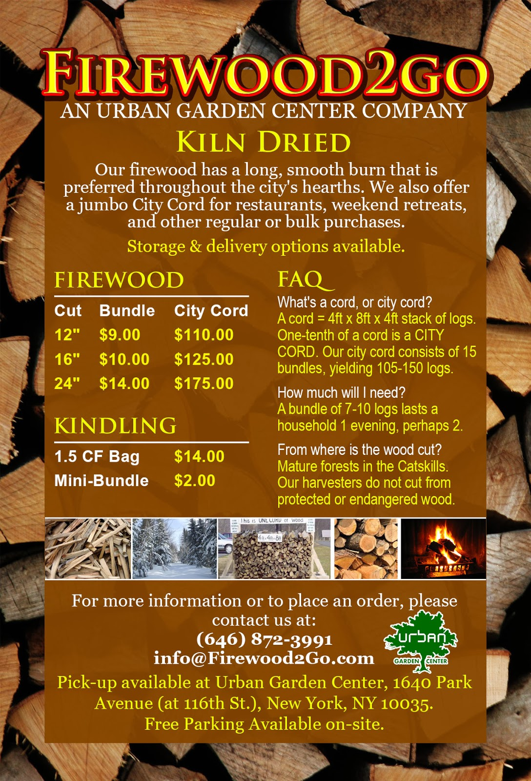 Where to buy firewood in New York City? Better yet, delivered! Try ...