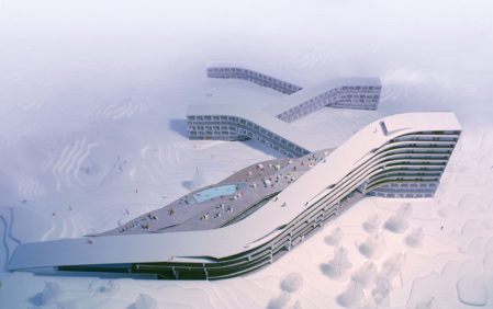 Snowboardable architecture illicit snowboarding for Ski design hotel