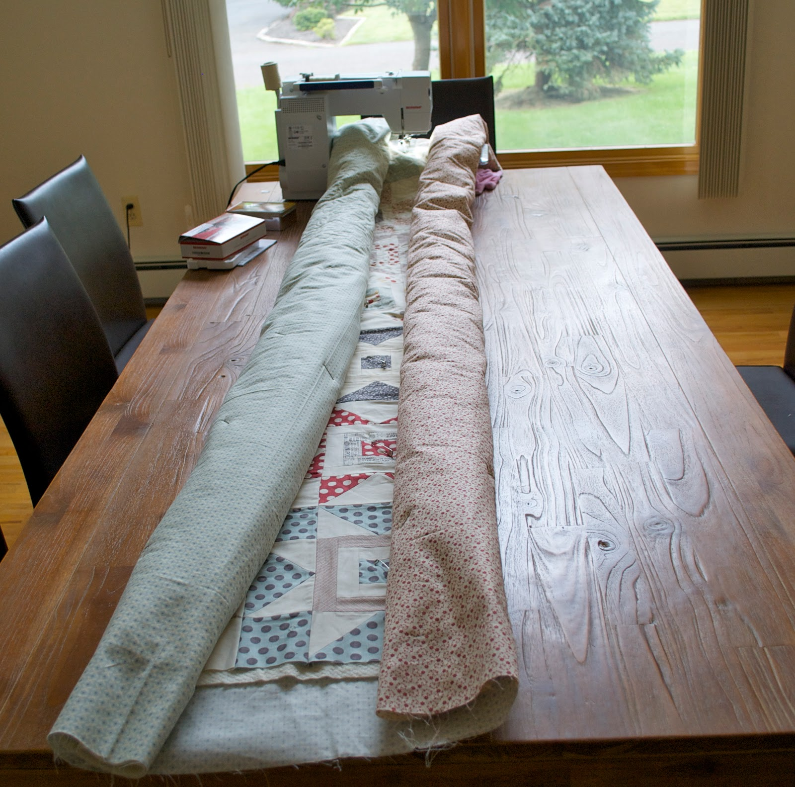 Let's begin sewing...: Quilting Large Quilts : machine quilting a large quilt - Adamdwight.com