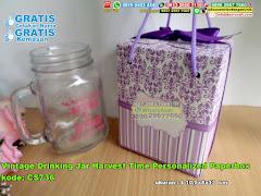 Vintage Drinking Jar Harvest Time Personalized Paperbox