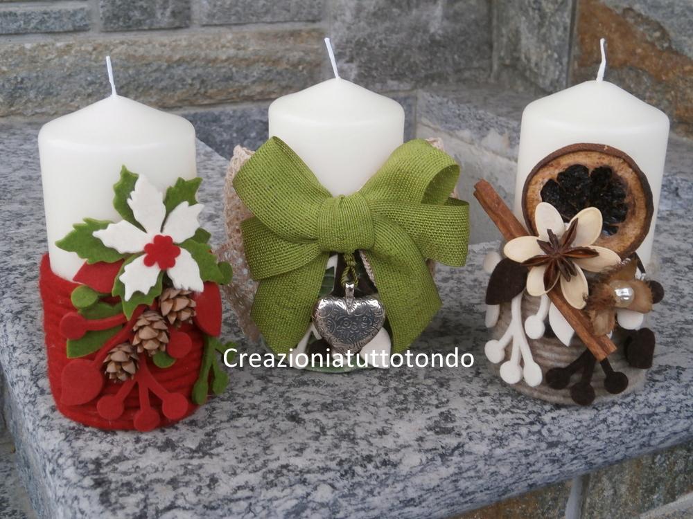 Creazioni a tutto tondo candele - Decorazioni natalizie con candele ...