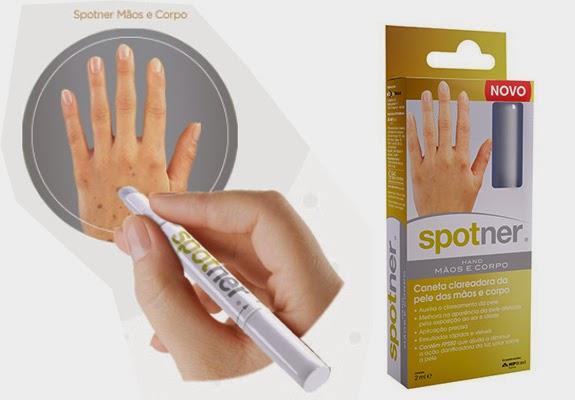 caneta Spotner para clarear manchas nas mãos