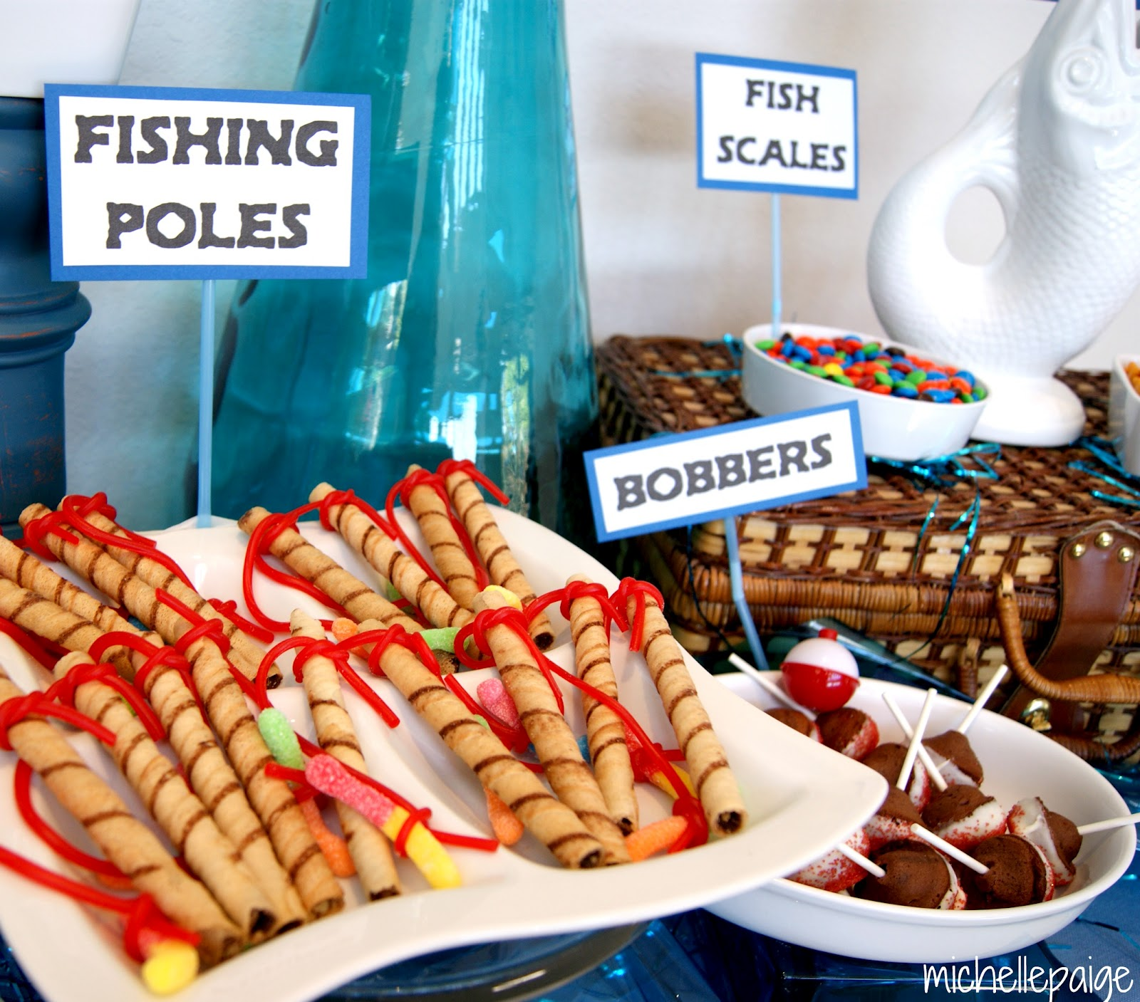 Michelle paige blogs father 39 s day fishing party for Fishing themed birthday