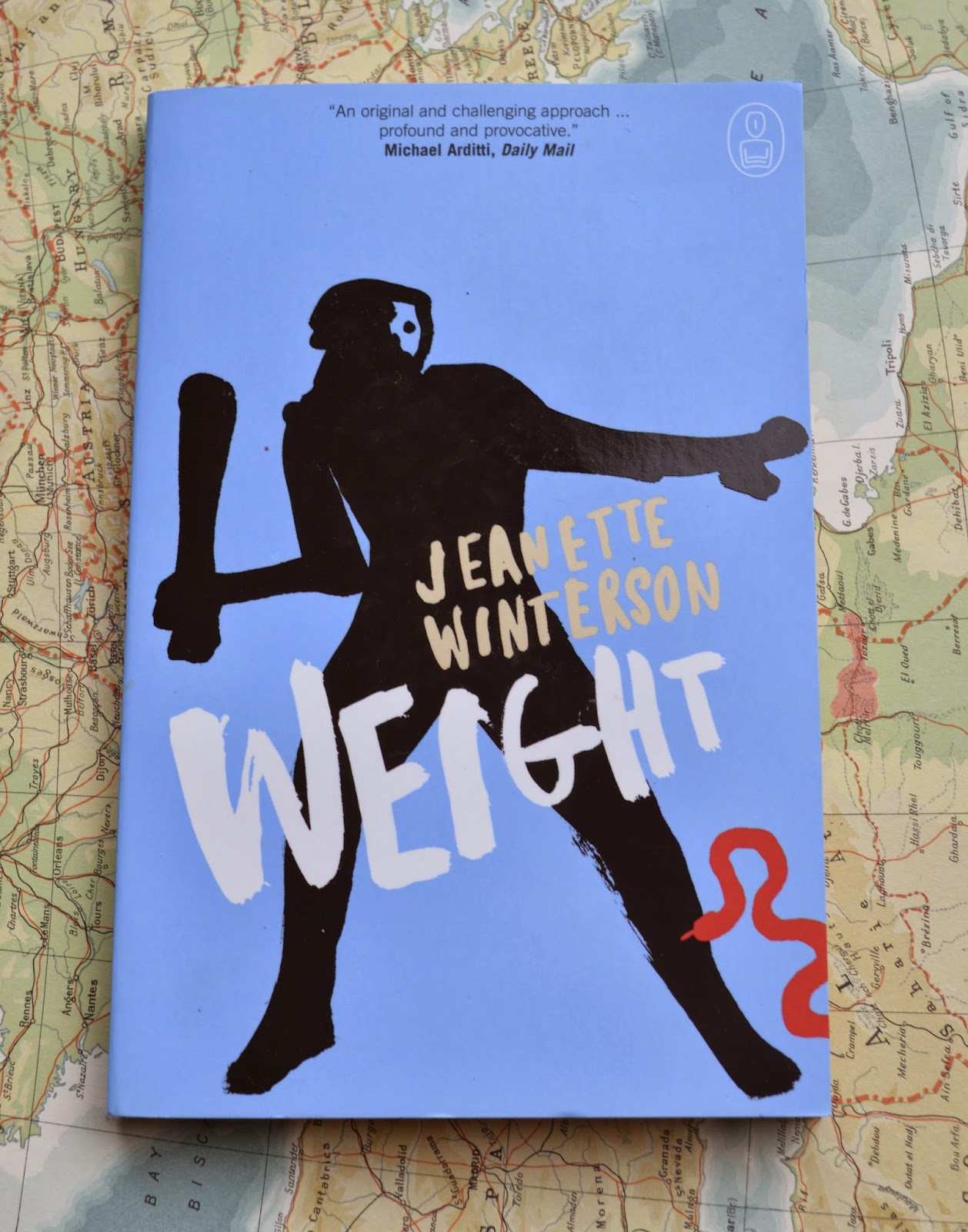 Weight, Jeanette Winterson, book, review, paperback, Atlas, Hercules, myth, mythology, cannogate, retold
