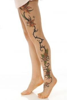 free design tiger lily tattoo flowers