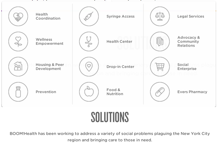 BOOM! Health has been working to address a variety of problems plaguing the New York City region and bringing care to those in need.