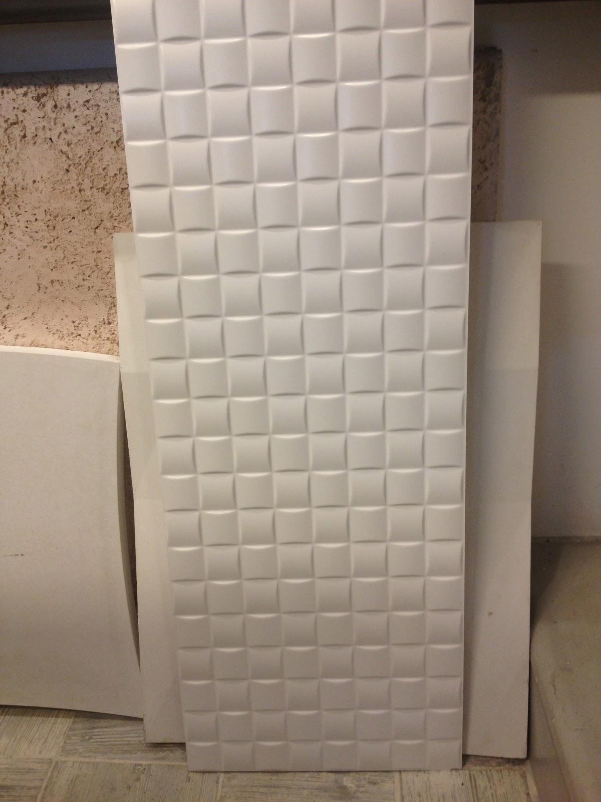 Porcelanato da Porcelanosa Oxo Mosaic Bianco Chão de Barro R$21  #71604D 1200x1600 Banheiro Com Revestimento De Porcelanato