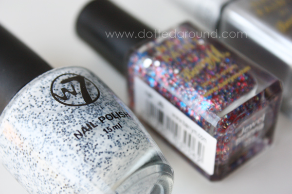 W7 glitter salt pepper polish