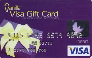 vanilla visa gift card how to use