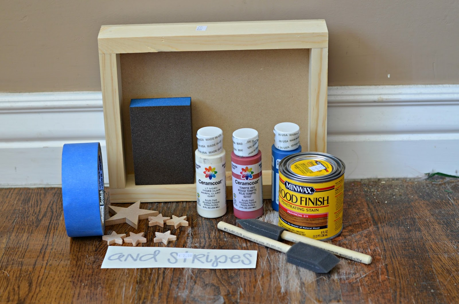 Supplies Needed To Paint A Room stars and stripes shadowbox - the wood connection blog