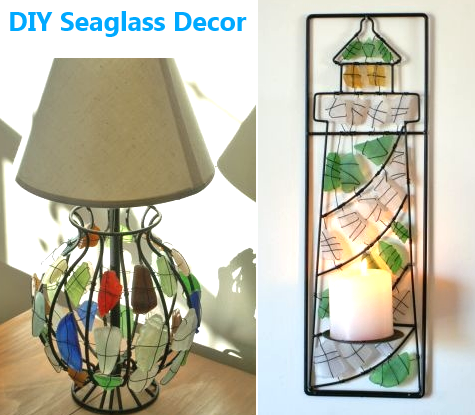 DIY seaglass decorations