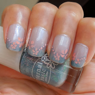 OPI Give me the Moon and Eternal Basic with flowers