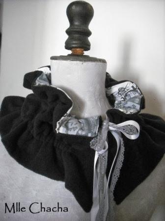 collier, pendentif, rétro, vintage, romantique, bohème, Bandeau, turban, ceinture, accessoire de mode, créateur,Mlle chacha, bandeau, col écharpe, turban, français, fait main, tour de cou