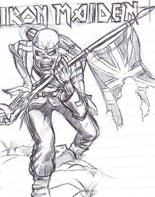 Desenho do Iron Maiden