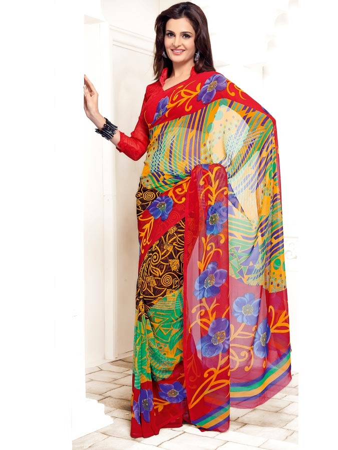 Occasional Sarees Designs for this year | New Saree selection for ...