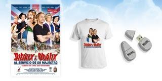 Merchandising Astérix y Obélix al servicio de su majestad: Camiseta y pendrive. CONCURSOS. Making Of