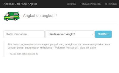 Aplikasi Searching Pencarian Jalur Angkot