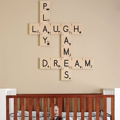 Cute room for baby for Baby wall decoration ideas