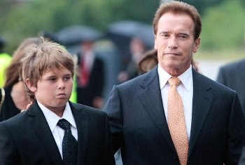 Photo of Arnold Schwarzenegger & his  Son  Christopher Sargent Shriver Schwarzenegger