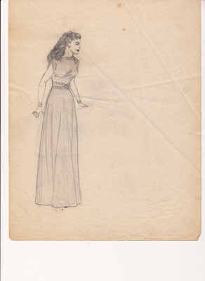 undated sketch by Mary Ann Corsino Lantos