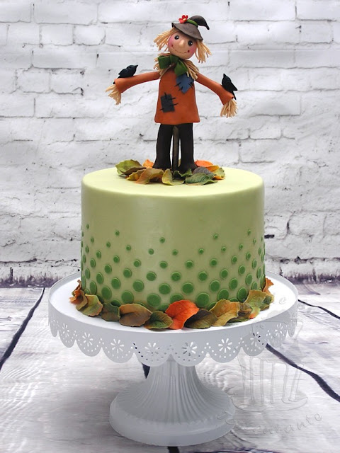 Scarecrow cake autumn Herbsttorte Fondant