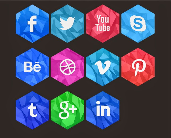 Social Icons 2D & 3D - Free Download!