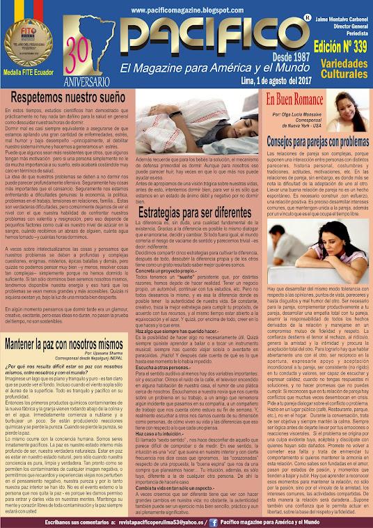 Revista Pacífico Nª 339 Variedades Culturales