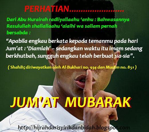 membaca sholawat di antara 2 khutbah jum at bagi muroqi dan bagaimana
