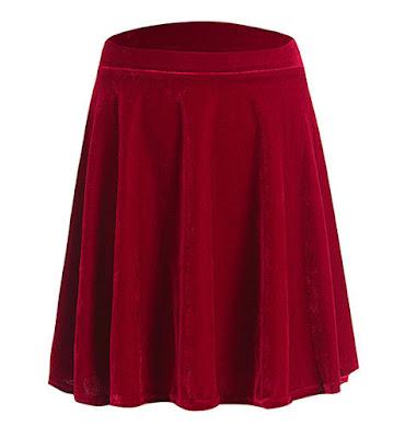 http://www.stylemoi.nu/wine-red-velvet-skater-skirt.html