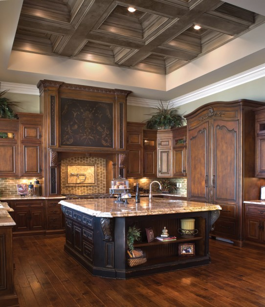 kitchen, love the painted coiffured ceiling? by Renaissance