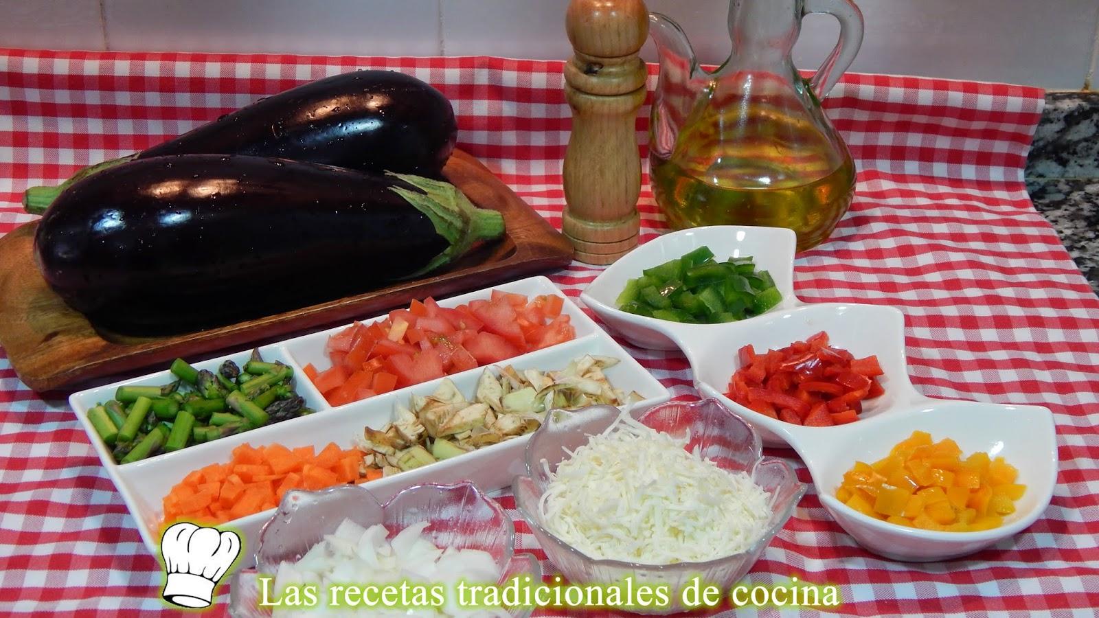 Receta fácil de berenjenas rellenas de verduras
